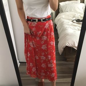 Lovers + Friends Maxi Floral Skirt